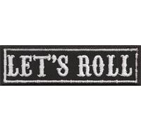 LET`s ROLL Biker Motorrad Kutte Rocker Heavy Metal Aufnäher Patch Aufbügler