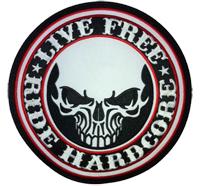 LIVE Free BIG Ride Hardcore Skull Bones Totenkopf MC Biker Backpatch Aufnäher
