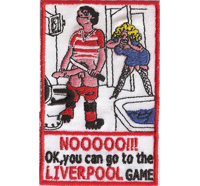 LIVERPOOL Soccer Fanclub Best Club, Game or Dig Off Iron on Patch Badge Aufnäher