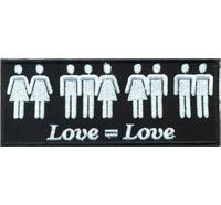 LOVE is Love Homosexuel Gay is Ok Unity Punk Anarchy Patch Aufnäher Abzeichen