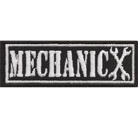 MECHANIC Garage Biker Schrauber Chopper Aufnäher Patch Abzeichen