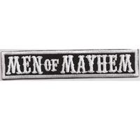 MEN of MAYHEM, Biker MC Motorcycle Club Rangabzeichen Biker Aufnäher Patch Abzeichen