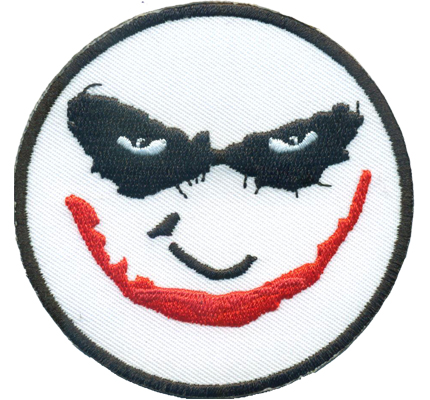 MISSFITS JOKER Batman face Maniac Lunatic Ultras Biker Rocker Patch Aufnäher