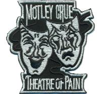MOTLEY CRUE Theatre of Pain Mask Band Biker Rocker Aufnäher Aufbügler Patch