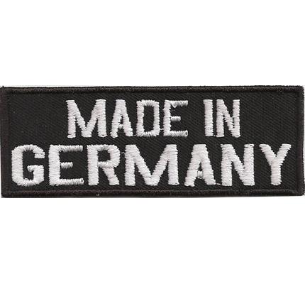 Made IN GERMANY, Deutscher Motoradfahrer Biker Rocker Kutten Patch Aufbügler