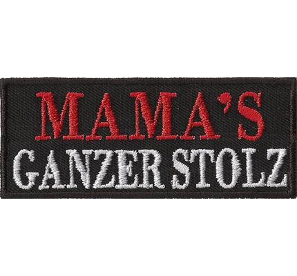 MAMA`s GANZER STOLZ, Motorradjacke Lederweste Spruch Aufnäher Abzeichen