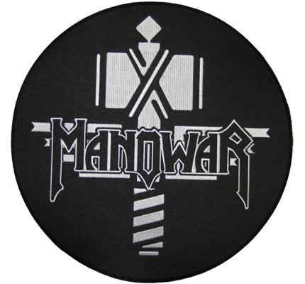 MANO WAR ManoWar Sign of the Hammer BACKPATCH XXXL Jacken Aufnäher