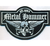 Metal Hammer Thrash Metal Wacken Kutte Winged Skull Biker Aufnäher Patch