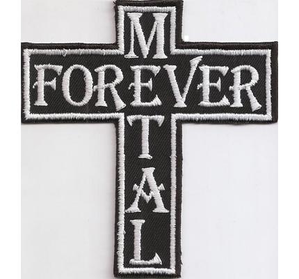 Metal Forever Heavy Metal Kreuz Cross Black Metal 4 ever Aufnäher Patch
