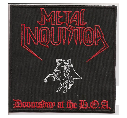 MetalInquisitor Doomsday For the Heretic Album Cover Heavy Metal Patch