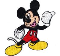 Mickey Mouse Maus Follow Me Biker Kinder Aufbügler Aufnäher Patch Abzeichen