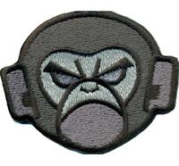 Monkey crazy psycho Hardcore DJ Rockabilly Biker Heavy Metal Patch Aufnäher