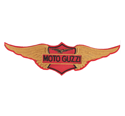 MotoGuzzi Retro Vintage Motorad WING Jacke Aufnäher Backpatch Patch