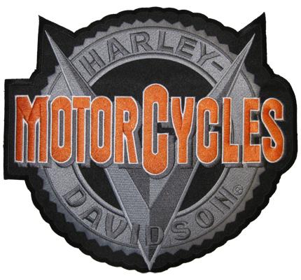 MotorCycles XXL BACKPATCH Harley davidson Vmotor Motorblock Biker Aufnäher Patch