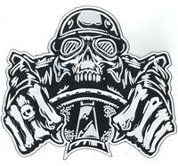 XXL Motorrider Motorcycle Racer Totenkopf Motorradfahrer Reaper Biker BACKPATCH