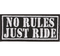 NO RULES JUST RIDE Biker Rocker Choppers Harley Davidson Aufnäher Patch
