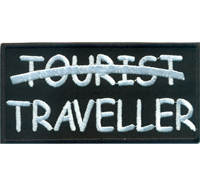 NO TOURIST, TRAVELLER, Motorcycle Driver Motorrad Route 66 Biker Aufnäher Patch