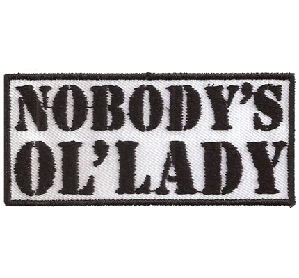 Nobodys Ol Lady Biker Motorbike Girly Women Patch Badge Aufnäher Abzeichen