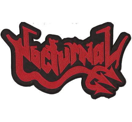 Nocturnal Black Heavy Metal BACKPATCH Rocker Kutte Aufnäher Patch