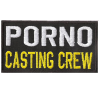PORNO CASTING CREW, Red light Crew, Biker, Rocker, Aufnäher, Patch