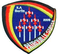 Patrouille Suisse ILA Berlin 2006 Jet Coat of Arms Patch Aufnäher Abzeichen