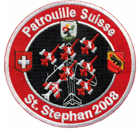 Patrouille Suisse St.Stephan 2008 Swiss Coat of Arms Aufnäher Abzeichen