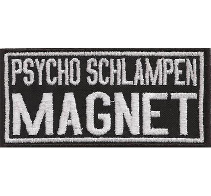 Psycho Schlampen Magnet OldLady Biker Rocker Girl Aufnäher Patch Aufbügler