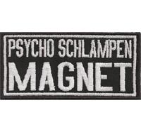 Psycho SCHLAMPEN MAGNET, Heavy Metal Biker Rocker Abzeichen Aufnäher Patch