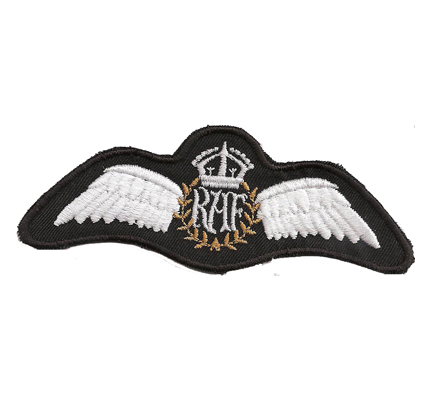 RAF Royal Air Force Pilot Wing Kings Crown Aircrew Aufnäher Abzeichen