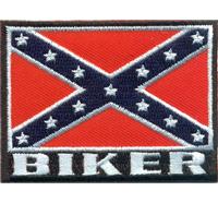 REBELL FLAG Südstaaten Fahne Biker Motorrad Motorcycle Aufnäher Patch Bügelbild