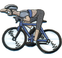 Radfahrer Rennrad Tour de France Mountainbiker Biker Aufbügler Aufnäher Patch