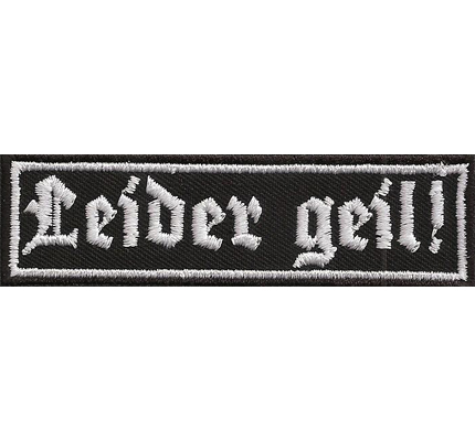Leider Geil Black Metal Biker Rocker Heavy Metal Spruch Kutte