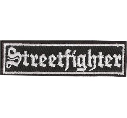 Streetfighter Racing Biker Rocker Heavy Metal Spruch Kutte Aufnäher Patch