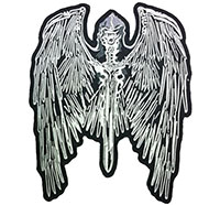 Sensenmann Todesengel Reaper Biker Wings Motorcycle Backpatch Aufnäher Patch