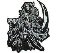 Reaper King Sensenmann Todesengel Biker Death Metal Kette Aufnäher Backpatch