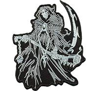 Reaper King Sensenmann Todesengel Biker Death Metal Kette Aufnäher Patch