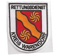 Rettung Rettungsdienst Kreis Warendorf Rotes Kreuz Abzeichen Aufnäher Patch