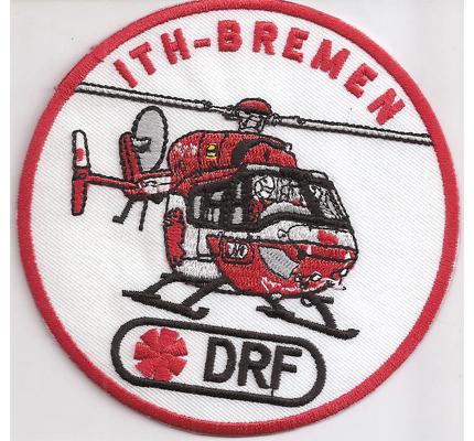 Rettungshubschrauber RTH ITH Bremen DRF Helicopter Luftrettung Abzeichen Aufnäher