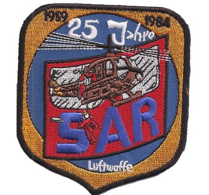 Rettungshubschrauber SAR RTH Luftwaffe 25 Jahre Helikopter Abzeichen Patch