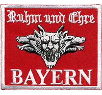 Ruhm und Ehre Bayern FCB Fanclub Trikot Ultras Hooligan Patch Aufnäher