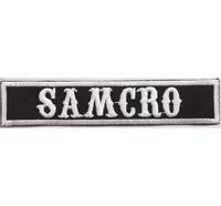 SAMCRO, Biker MC Motorcycle Club Rangabzeichen Biker Aufnäher Patch Abzeichen