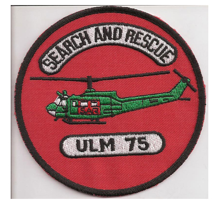 SAR75 Christopherus UH1 Ulm DRTH LuftRettung Helikopter RTH Aufnäher Patch