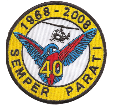 SEMPER PARATI Helikopter 40 Hubschrauber RTH Abzeichen Patch Aufnäher