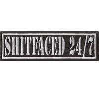 SHITFACED 24/7 Streetfighter Motorrad Biker Rocker Aufnäher Patch Abzeichen