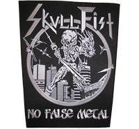 SKULLFIST Skull Fist No False Metal Heavy Death Metal Backpatch Aufnäher