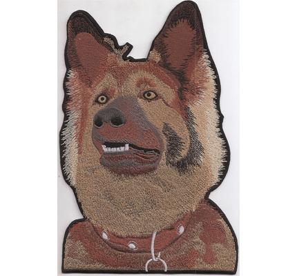 Deutscher SCHÄFERHUND Backpatch Hundekopf Hundefreunde Dog Shephard Aufnäher