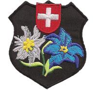 Schweiz Edelweiss Wappen Swisserland, Bergfreunde Wandern Aufnäher