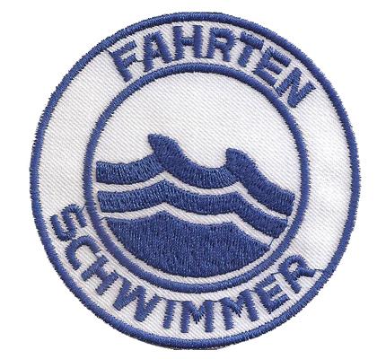 Fahrten Schwimmer Schwimmabzeichen Wasserrettung Rotkreuz Aufnäher