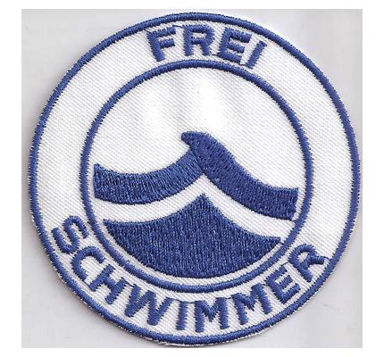 FREI Schwimmer Schwimmabzeichen Wasserrettung Rotkreuz Aufnäher