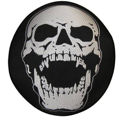 Screaming Skull HEAD, Totenkopf Heavy Metal BACKPATCH XXL BIKER Aufnäher